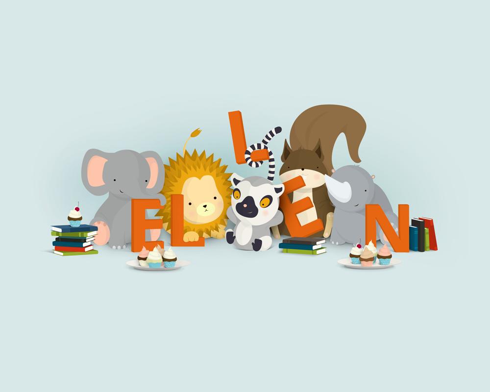 Ellen | En unik navneplakat fra Bogstavzoo