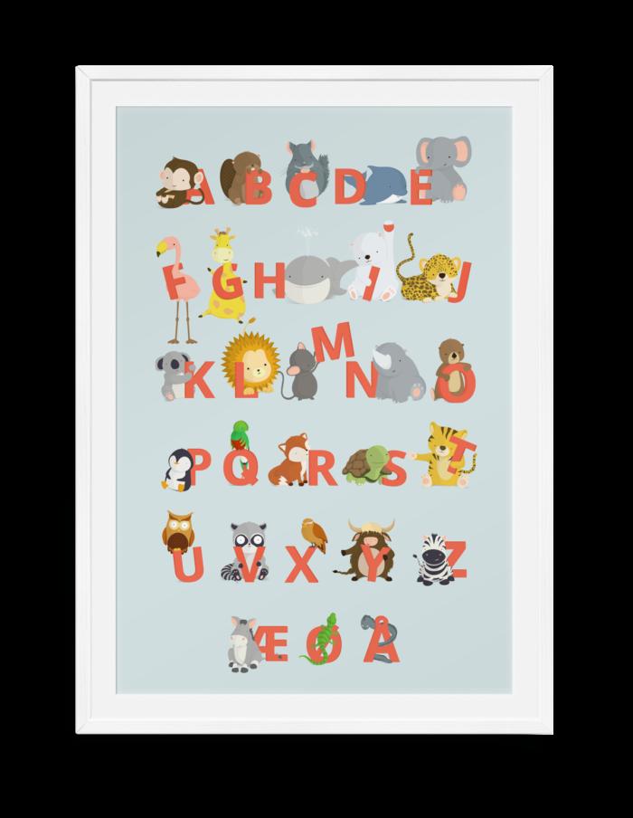 ABC plakater fra Bogstavzoo