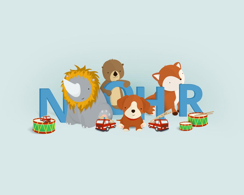 Nohr | En unik navneplakat fra Bogstavzoo