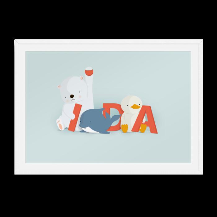 Ida navneplakat fra Bogstavzoo