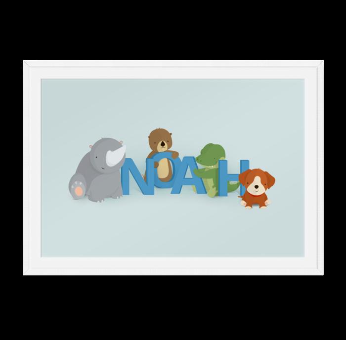 Noah navneplakat fra Bogstavzoo