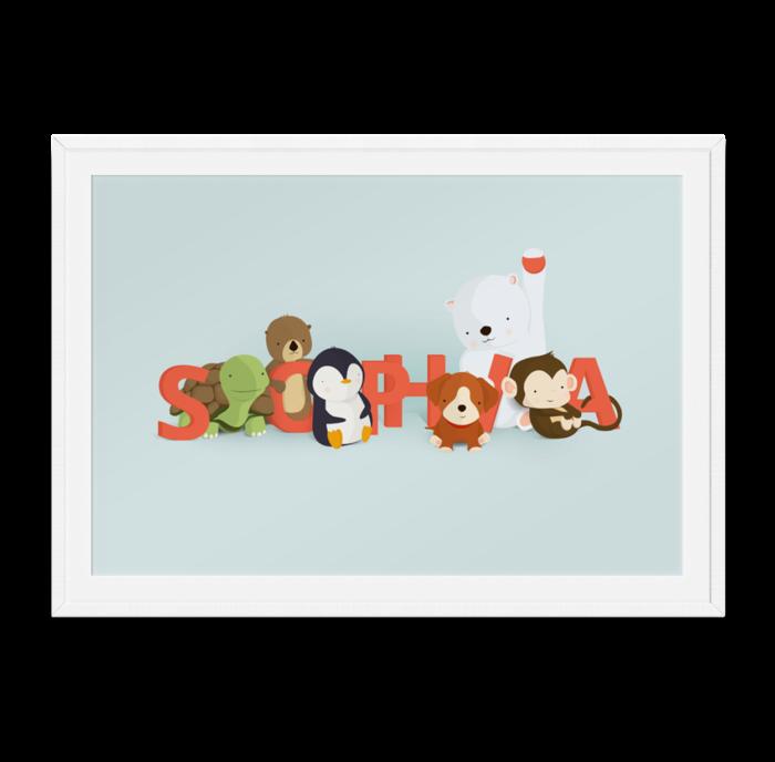 Sophia navneplakat fra Bogstavzoo
