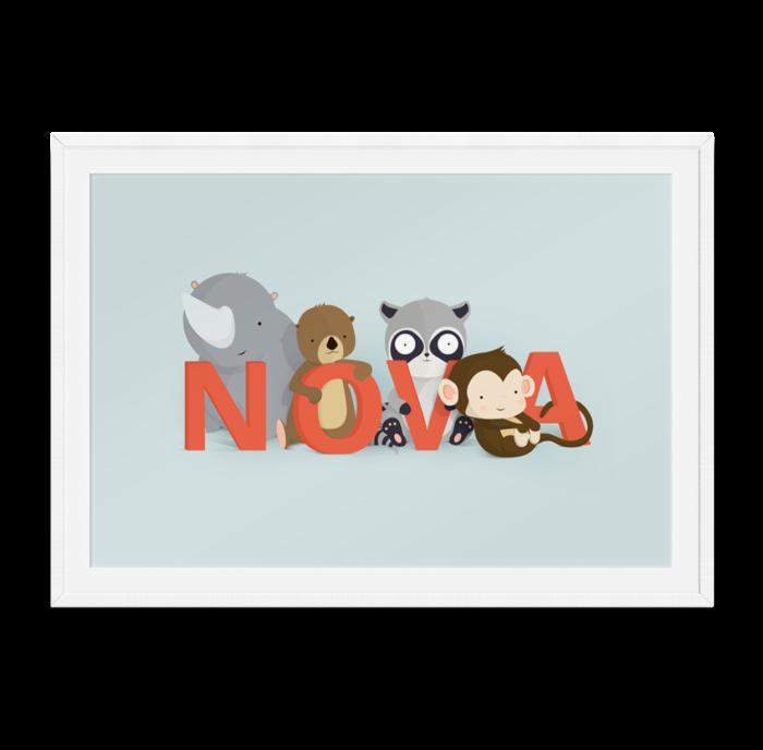 Nova navneplakat fra Bogstavzoo