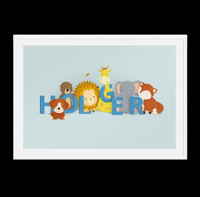 Holger navneplakat fra Bogstavzoo