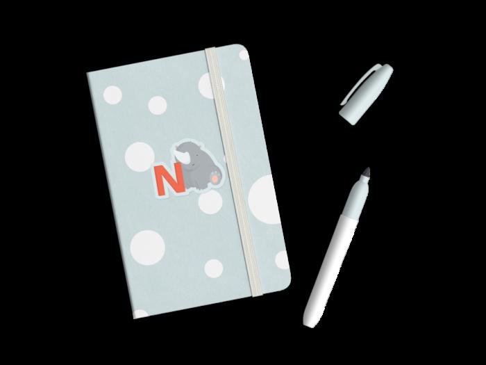 Brug Bogstavzoo klistermærker til børnenes skolebøger