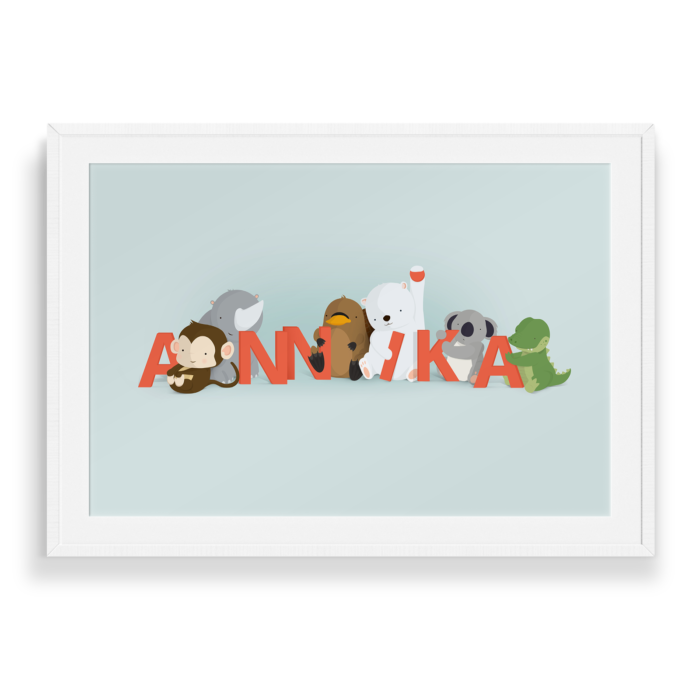 Annika navneplakat fra Bogstavzoo