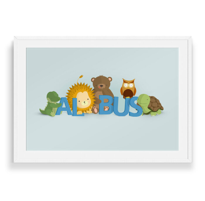 Albus navneplakat | Børneplakater fra Bogstavzoo
