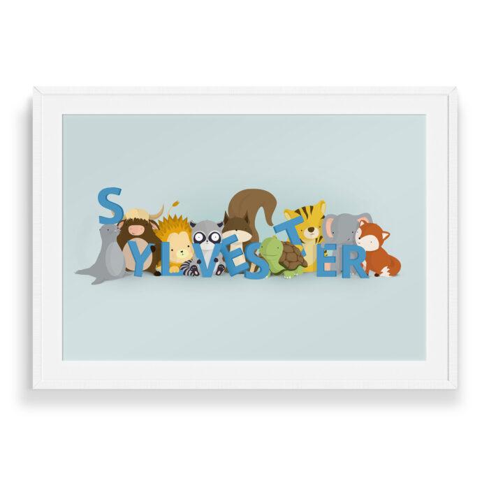 Sylvester navneplakat | Børneplakater fra Bogstavzoo