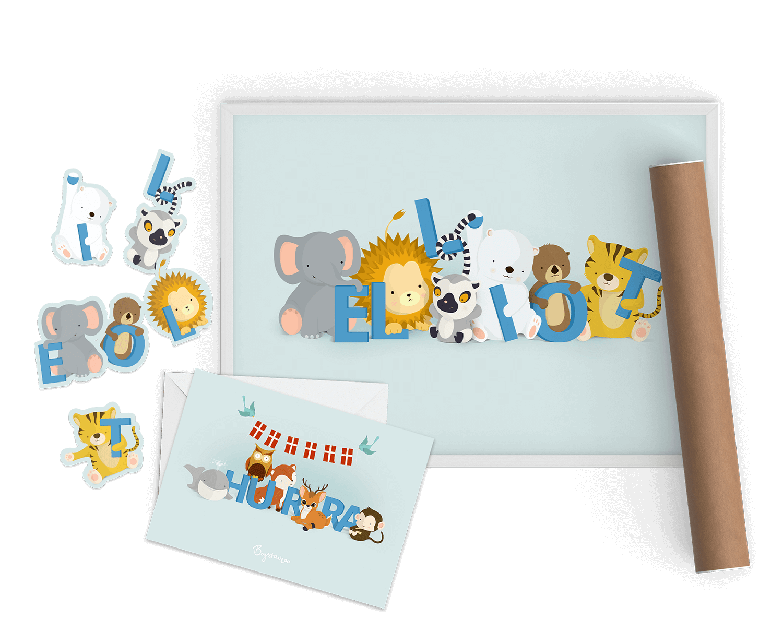 Kort og klistermærker fra Bogstavzoo