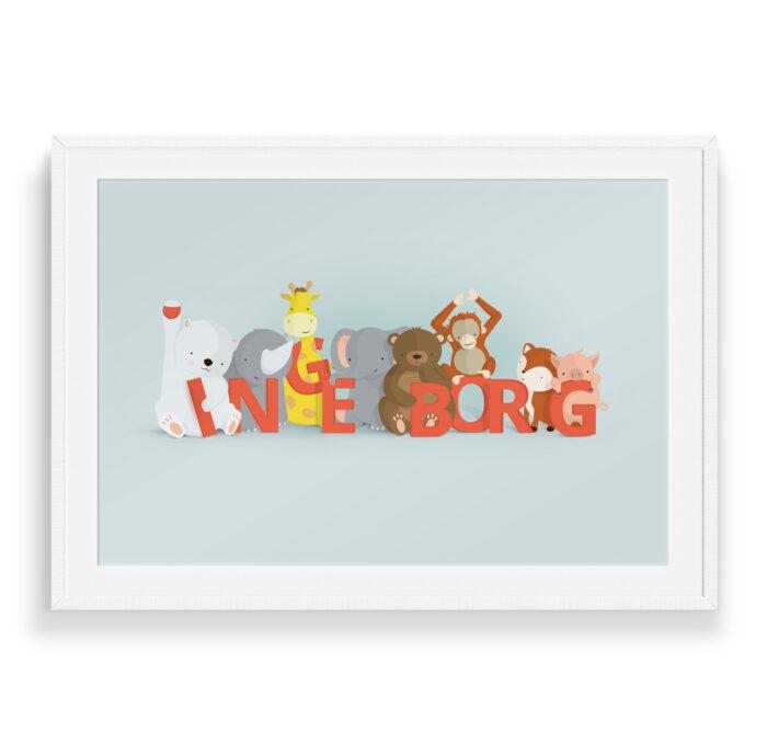 Wilfred Ingeborg | Børneplakater fra Bogstavzoo
