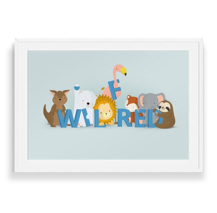 Wilfred navneplakat   Børneplakater fra Bogstavzoo